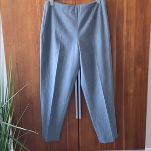 Talbots Stretch Side Zip Flat Front Tapered Pants